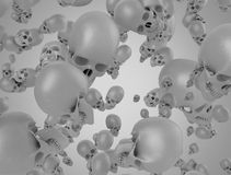 Fondo de los cráneos 3d Imagen de archivo libre de regalías