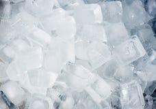 Fondo de los cubos de hielo Imagenes de archivo