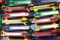 Fondo de los cuchillos Imagen de archivo libre de regalías