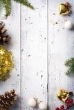 Fondo de los días de fiesta de la Navidad Fotos de archivo libres de regalías