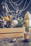 Fondo de los días de fiesta de la Navidad del vintage Fotos de archivo libres de regalías