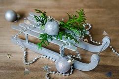 Fondo de los días de fiesta con la composición de la Navidad Imagen de archivo libre de regalías