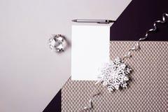 Fondo de los días de fiesta Tarjeta de Navidad del papel en blanco Imagen de archivo libre de regalías