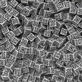 Fondo de los dados del código de QR Imágenes de archivo libres de regalías