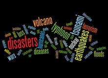 Fondo de los desastres Foto de archivo