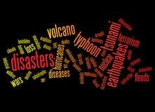 Fondo de los desastres Imagen de archivo libre de regalías