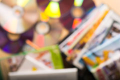 Fondo de los discos del DVD fotografía de archivo libre de regalías