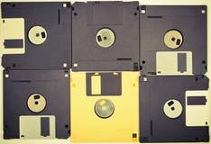Fondo de los disquetes de la vendimia Imagen de archivo libre de regalías
