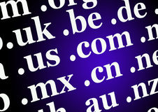Fondo de los Domain Name Imágenes de archivo libres de regalías