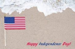 Fondo de los E.E.U.U. del Día de la Independencia con la bandera Foto de archivo libre de regalías