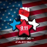 Fondo de los E.E.U.U. del día del patriota stock de ilustración