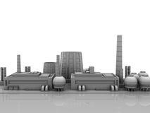 Fondo de los edificios industriales stock de ilustración