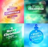Fondo de los elementos de la Navidad del vintage con ilustración del vector