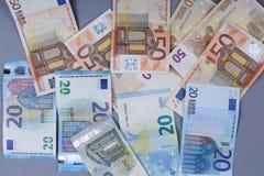 Fondo de los euros Fotos de archivo