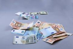 Fondo de los euros Imagenes de archivo