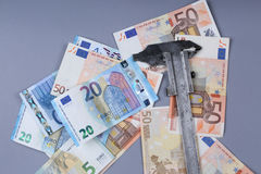 Fondo de los euros Imágenes de archivo libres de regalías