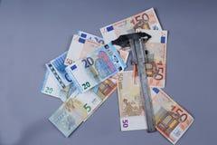 Fondo de los euros Imagen de archivo libre de regalías