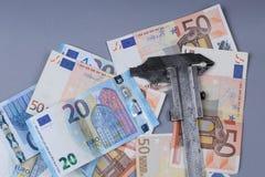 Fondo de los euros Fotos de archivo libres de regalías