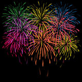 Fondo de los fuegos artificiales de la Feliz Año Nuevo ilustración del vector