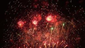 Fondo de los fuegos artificiales del Año Nuevo almacen de metraje de vídeo