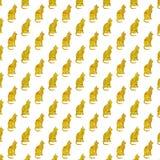Fondo de los gatos de Snakeskin Cat Pattern Faux Foil Metallic del oro Foto de archivo libre de regalías