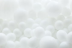 Fondo de los globos blancos imágenes de archivo libres de regalías