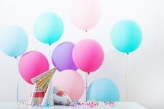 Fondo de los globos para el cumpleaños Imágenes de archivo libres de regalías