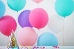 Fondo de los globos para el cumpleaños Imagen de archivo