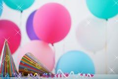 Fondo de los globos para el cumpleaños Foto de archivo