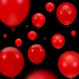 Fondo de los globos rojos del partido Imágenes de archivo libres de regalías