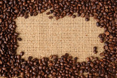 Fondo de los granos de café. Imagen de archivo libre de regalías