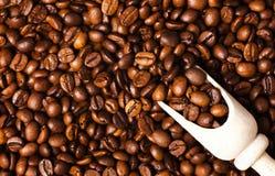 Fondo de los granos de café asados foto de archivo