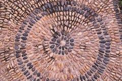 Fondo de los guijarros de la roca del río en piso Foto de archivo