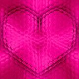 Fondo de los hexágonos de la forma del corazón Imágenes de archivo libres de regalías