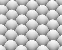 Fondo de los huevos blancos Fotos de archivo