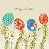 Fondo de los huevos de Pascua stock de ilustración