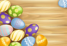 Fondo de los huevos de Pascua Foto de archivo