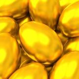 Fondo de los huevos de Pascua de oro Foto de archivo