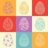 Fondo de los huevos de Pascua decorativos Foto de archivo