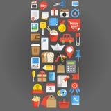 Fondo de los iconos del interfaz del color libre illustration