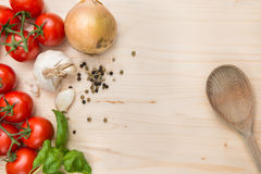 Fondo de los ingredientes alimentarios Fotografía de archivo libre de regalías