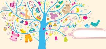 Fondo de los items del bebé Fotos de archivo libres de regalías