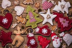 Fondo de los juguetes de la Navidad Fotos de archivo libres de regalías