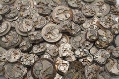 Fondo de los mechanismes del reloj Imagenes de archivo