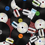 Fondo de los media de la música Fotos de archivo libres de regalías