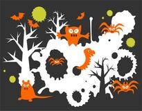 Fondo de los monstruos de la historieta Imagen de archivo