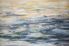 Fondo de los movimientos del cepillo con las pinturas de aceite Imágenes de archivo libres de regalías