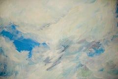 Fondo de los movimientos de la pintura de aceite bajo la forma de nubes Fotos de archivo
