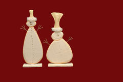 Fondo de los muñecos de nieve de Navidad Foto de archivo