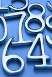 Fondo de los números Imagen de archivo